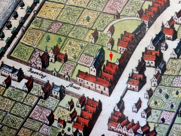 Hoogstraat, Wageningen in 1698