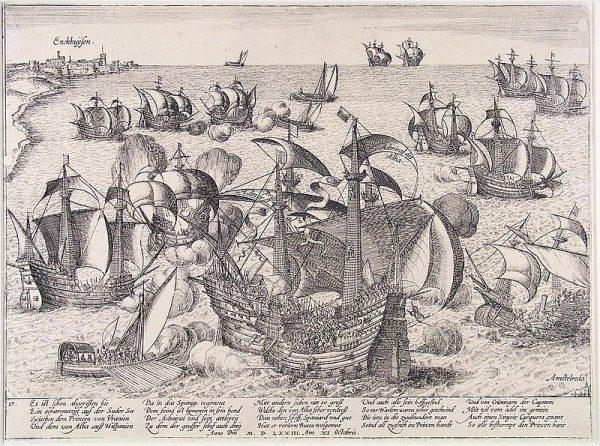 De Slag op de Zuiderzee - Frans Hogenberg