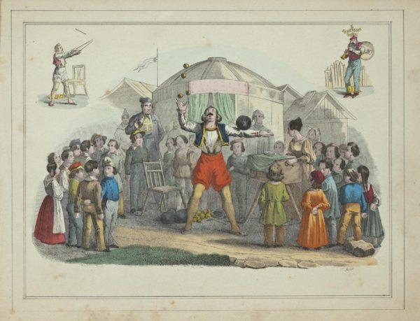 Kermis - Prent van Harco Ilpzema Vinckers, ca. 1848