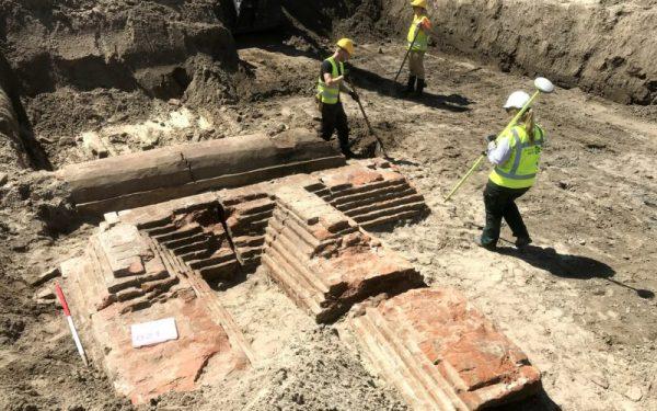 Opgravingen in de Spoorzone in Delft