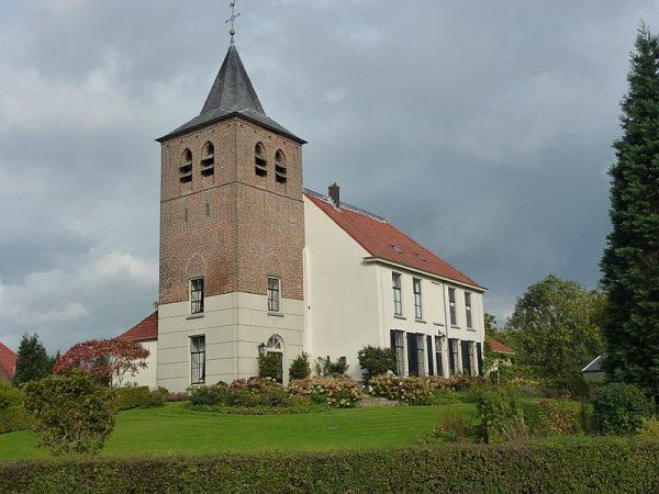 De hervormde kerk in Ooij