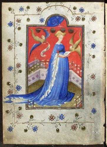 Miniatuur van Maria van Gelre