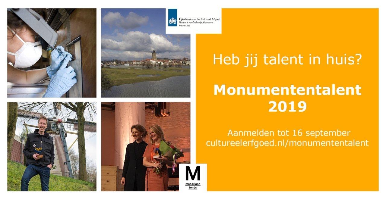 Op zoek naar het Monumententalent van 2019