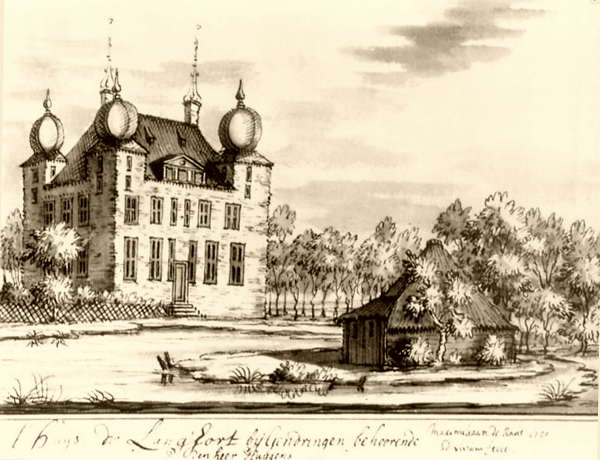 Huis Landfort in Megchelen in 1720