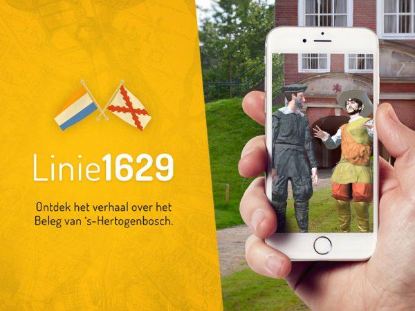 De route app van linie 1629 neemt je mee in een reis naar het Beleg van 's-Hertogenbosch