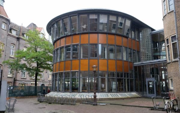 Paviljoen van Theo Bosch op het Binnengasthuisterrein Amsterdam