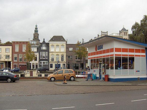 Monumentaal pompstation Turfsingel in Groningen, ontworpen door Willem Dudok.