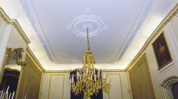 19e eeuws stucwerk in Amsterdams grachtenpand