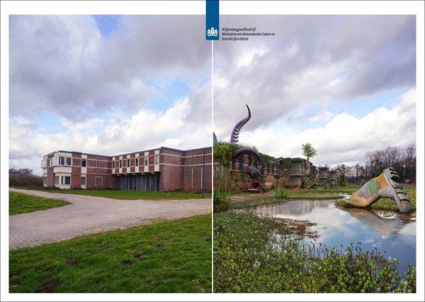 Impressie van de voormalige tbs-kliniek in Rekken toen en straks.