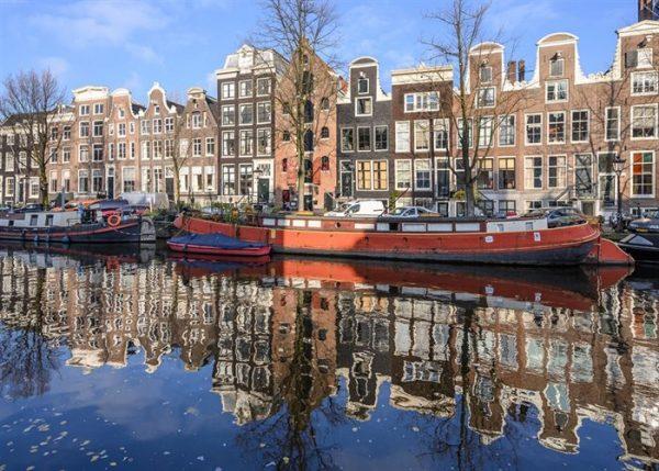 Woonboten in Amsterdam