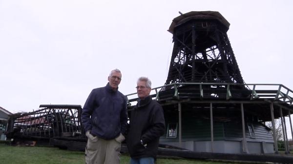 De afgebrande molen Ceres in Bovenkarspel
