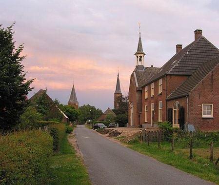 Straatje in Horssen, gemeente Druten