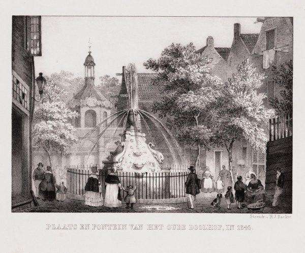 Oude doolhof Amsterdam in 1845