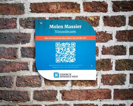 QR-code bij Molen Massier in Nieuwleusen