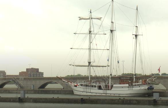 Schip van de bruine vloot.