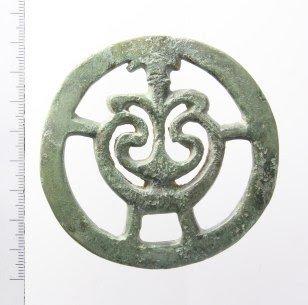 Riemverdeler van Romeins paardentuig, gevonden in de gemeente Buren (Gelderland).