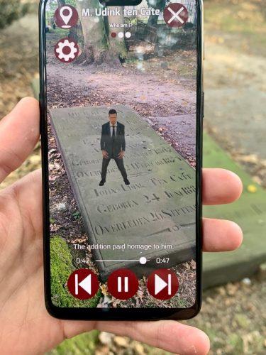 Augmented reality app, Boerenkerkhof Enschede.
