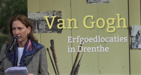 Directeur Van Gogh Museum Amsterdam bij presentatie van het onderzoek in Zweeloo.