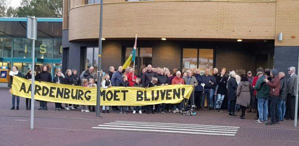 Demonstratie bij het gemeentehuis in 2017