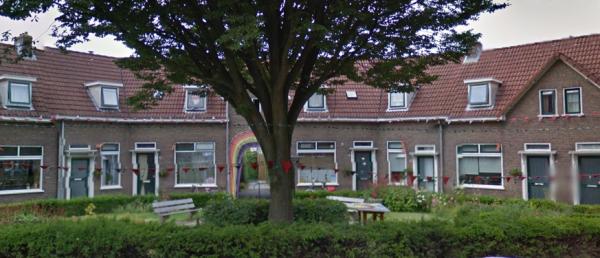 Arbeidershuizen aan de Julianastraat in Wageningen