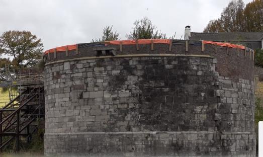 Rondeel van Maastrichtse stadsmuur.