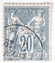 Franse bijzondere postzegel