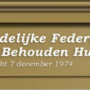 Pamflet Landelijke Federatie het Behouden Huis