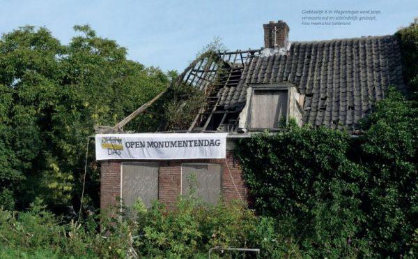 Grebbedijk 6 in Wageningen werd jaren verwaarloosd en uiteindelijk gesloopt.