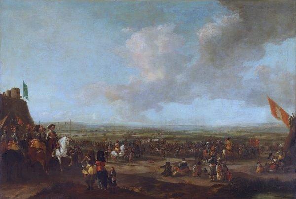 Referentiebeeld. Frederik Hendrik bij het Beleg van Maastricht